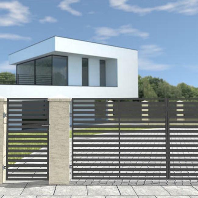 modernes einfahrtstor elektrisch grey anthrazit 400 x 150 cm bauelemente. Black Bedroom Furniture Sets. Home Design Ideas